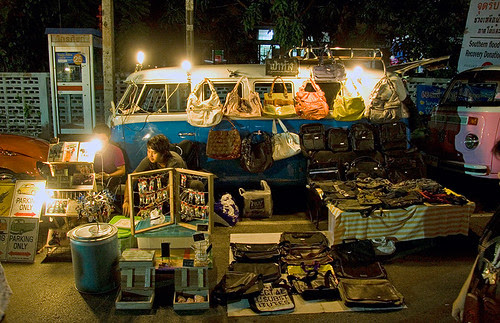 Art stall on Thalang Road