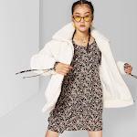 Women's Long Sleeve Oversized Zip-Up Sherpa Faux Fur Jacket - Wild Fable Cream