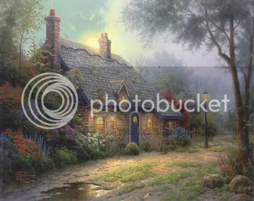Thomas Kinkade's 'Moonlight Cottage' hosted by Photobucket