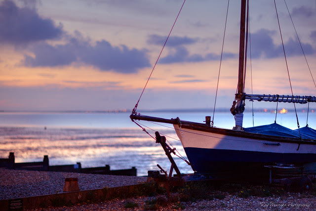 Beached Boat at Twilight