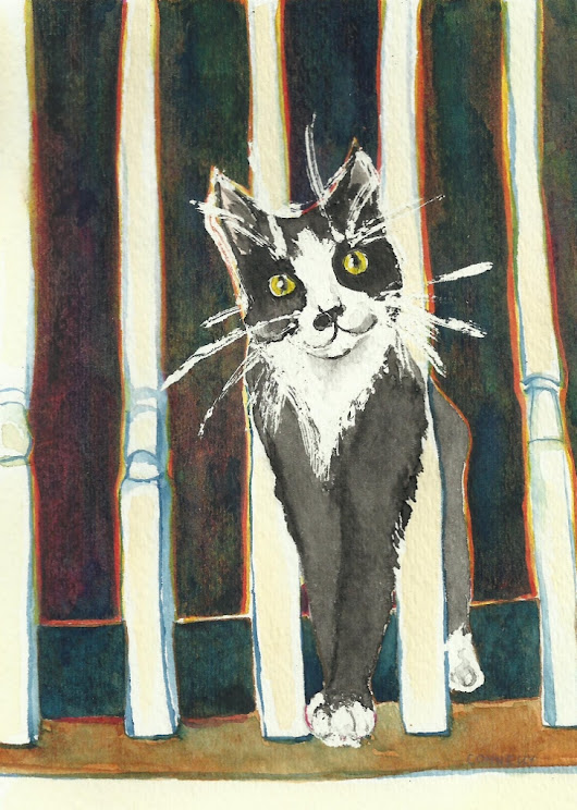 Cats Painted In Watercolor Day 27 September 2016 -