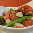 Lettuce, Pink Grapefruit and Imitation Crab Salad - Recipe