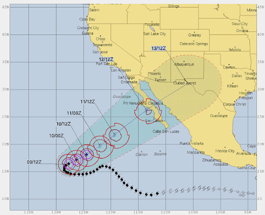 Sergio weakens to a tropical storm. At 14:00 hr...