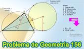 Problema de Geometría 156 (ESL): Triangulo, Circunferencias Exinscrita y Circunscrita, Excentro, Exradio, Circunradio.