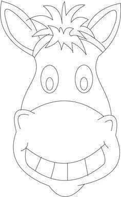Horse head printable mask | Preschool Graduation | Pinterest ...