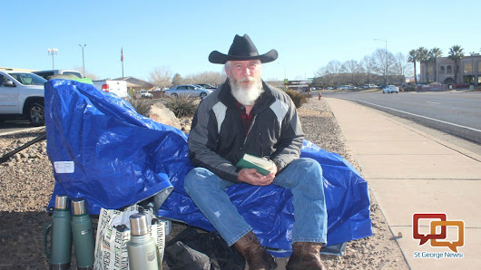 Lone demonstrator keeps 24-hour vigil for LaVoy Finicum | St George News