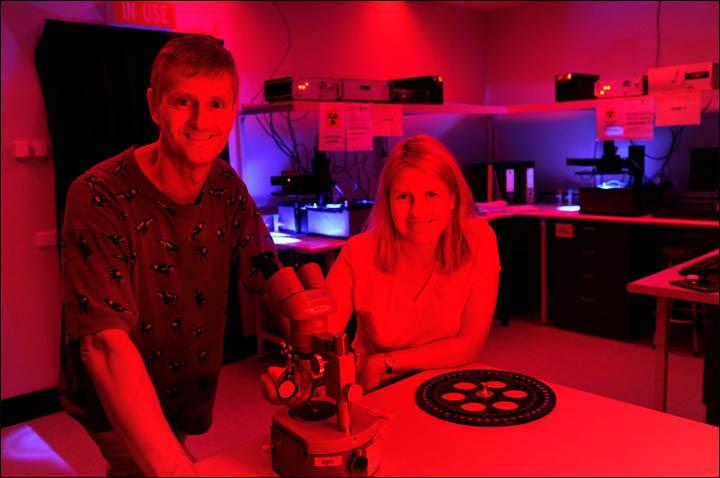 Richard 'Berth' Roberts in the lab