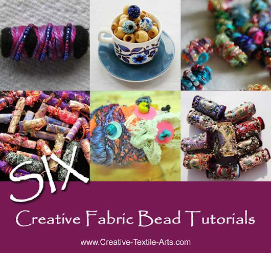 Six Creative Fabric Bead Tutorials