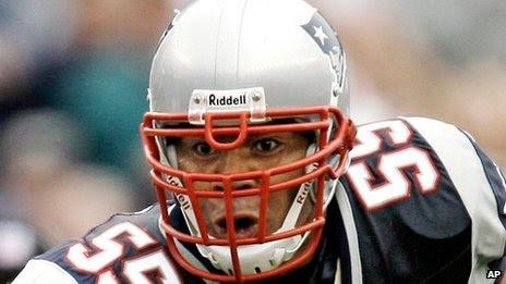 October 2007 file photo of New England Patriots linebacker Junior Seau