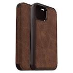 OtterBox Strada Premium Leather Folio Case for Apple iPhone 12/12 Pro Espresso