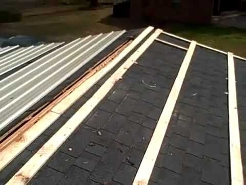 How To Install Metal Roofing Over Shingles Youtube