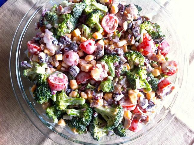 Broccoli Salad with Bacon and Cheddar