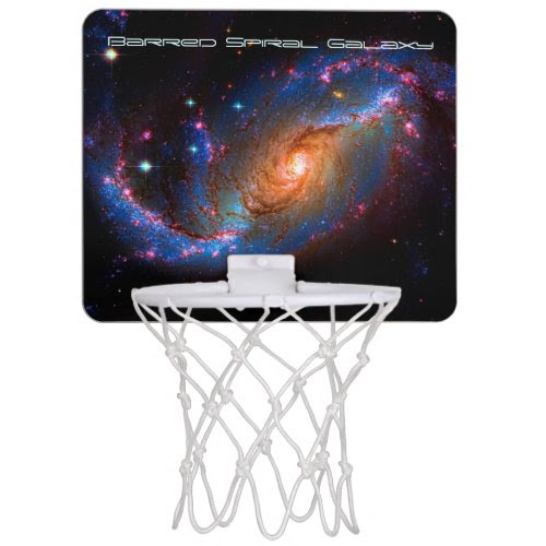 Barred Spiral Galaxy NGC 1672 outer space picture Mini Basketball Backboard