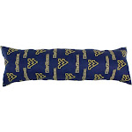 20 x 60 in. West Virginia Mountaineers Printed Body Pillow FI51971