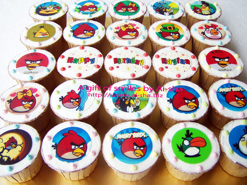 Birthday Cupcakes Edible Image Angry Birds