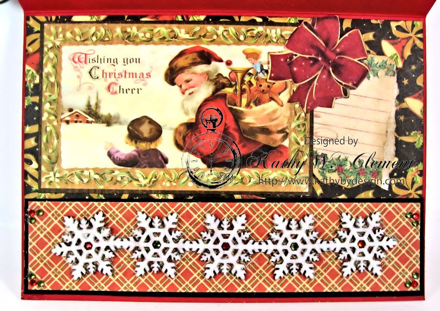 Christmas Emporium Easel card for Gypsy Soul Laser Cuts 06