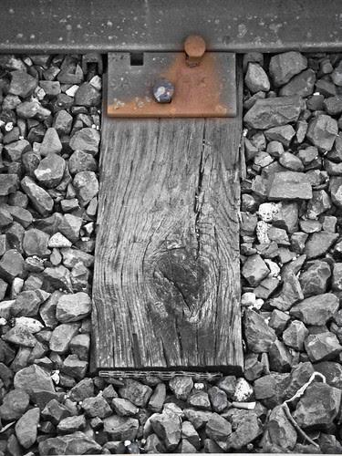 Rusting railway detail