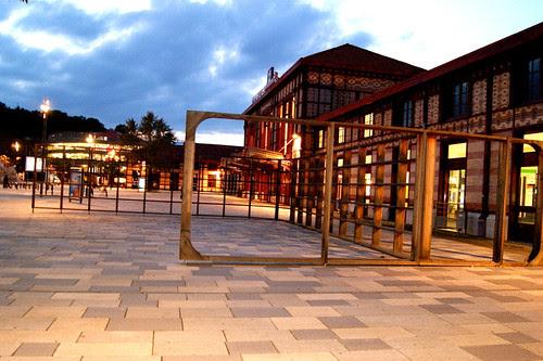 Saint-Etienne Gare (railway station) at night