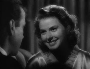 This screenshot shows Ingrid Bergman in a flas...