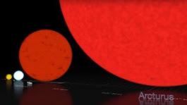 Compare sizes of sun and stars | EarthSky.org