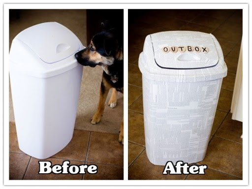 How to make DIY newspaper trash can makeover | How To Instructions