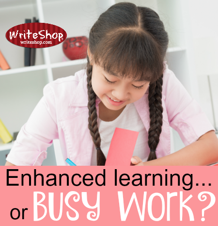 Is it enhanced learning . . . or is it busy work?