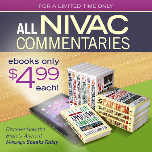 .@ZonderAcademic has all of their NIVAC commentaries on sale #ebook - Unsettled Christianity
