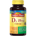 Nature Made Vitamin D3, 25 mcg, Tablets - 100 count