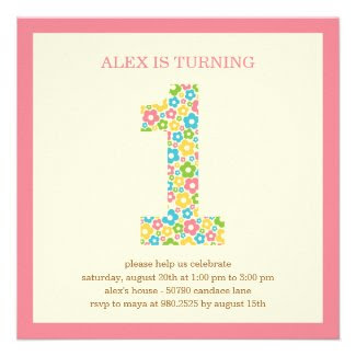 Flower Power First Birthday Invitation - Pink Invites