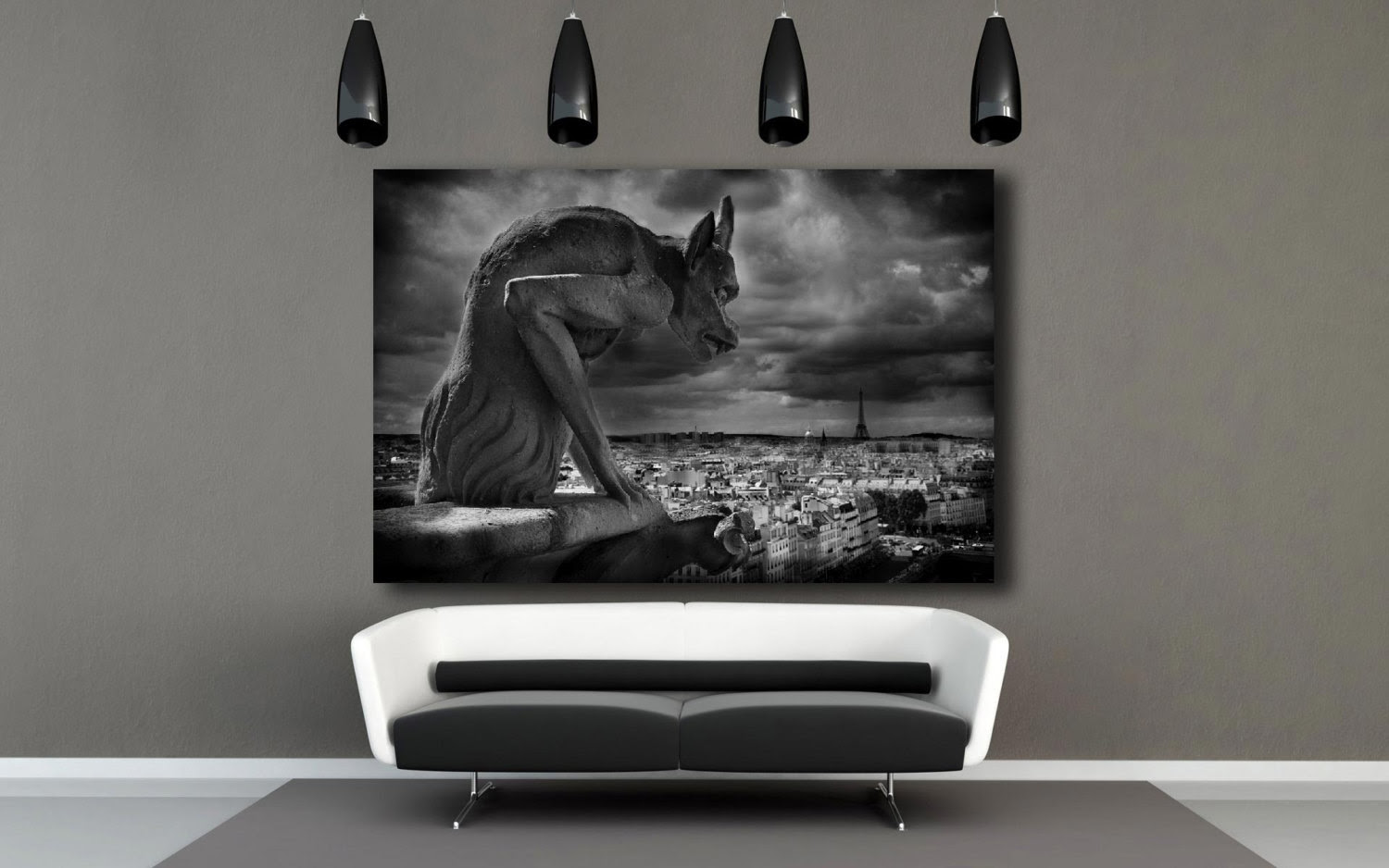 Gallery Wrap Gargoyle Notre Dame Cathedral Paris Decor Paris