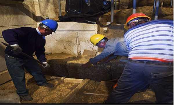 Σταμάτησε η ανασκαφή του τρίτου θαλάμου στην Αμφίπολη