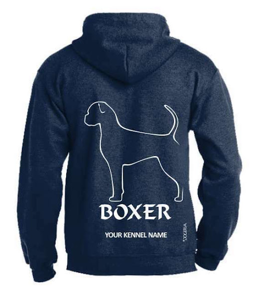 Details about Boxer (Natural) Dog Breed Hoodie, Pullover style, Exclusive Dogeria design