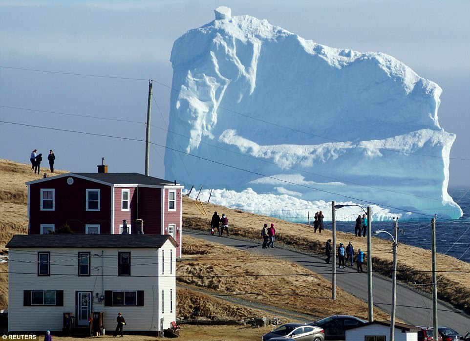 The first iceberg of the season passes the South Shore near Ferryland Newfoundland, Canada, on April 16. The shore is affectionately known by locals as Iceberg Alley