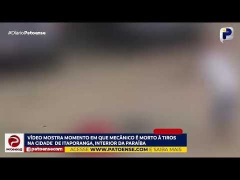 Vídeo mostra momento que mecânico é morto no Sertão da PB