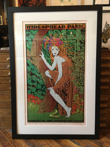 Widespread Panic - 2016 Chuck Sperry Savannah GA Rose Shimmer #1 FRAME – Sold Out Posters