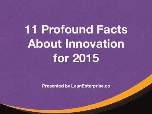 10 Profound Facts About Innovation for 2015
