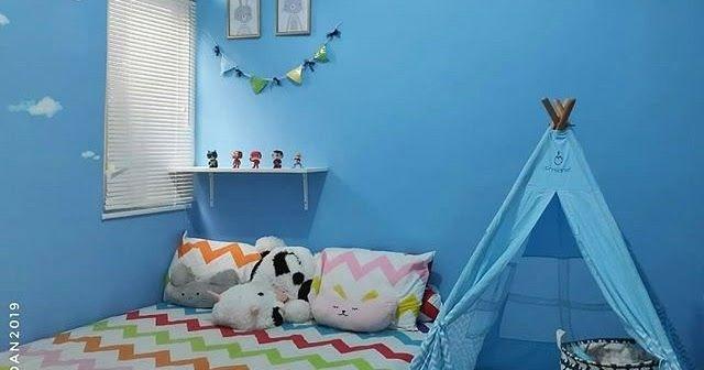40 Trend Terbaru Dekorasi Dinding Kamar Tidur Sederhana Warna Biru Balapati Lestari Ide Decor