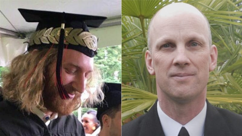 Taliesin Myrddin Namkai Meche and Ricky John Best stepped in to defend two girls being bullied by a white supremacist [Facebook]
