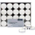 ".31"" 100pk Unscented Tealights Candles White - Made By Design"