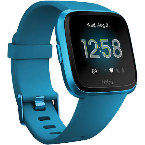 Fitbit Versa - Smart Watch with Heart Rate Monitor - Lite Edition - S/L - Marina Blue