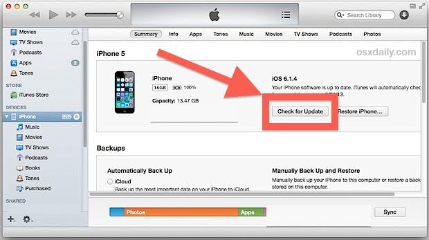 Update to iOS 7 with IPSW