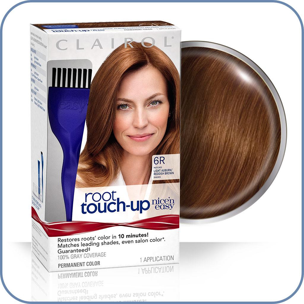 Amazon.com: Clairol Nice n Easy Root TouchUp 006R Light Auburn Light Reddish Brown 1 Kit Pack