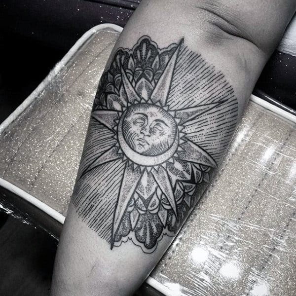 70 Sun Tattoo Designs For Men A Symbol Of Truth And Light