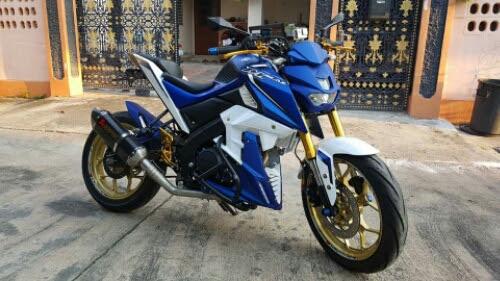 Yamaha Xabre 150 Biru Putih Pelk Emas Keren Ferboes Com