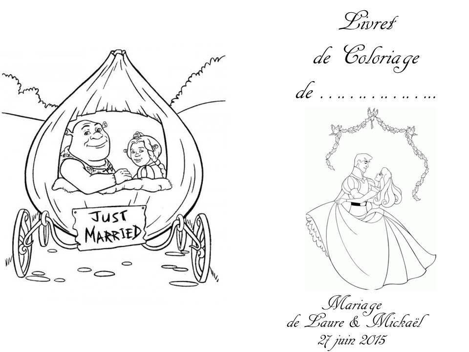Diy Livret De Coloriage Mariage Mamour49