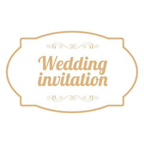 Wedding invitation badge 3   Transparent PNG & SVG vector