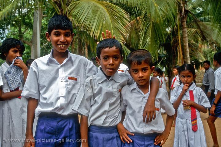school kids visiting Mihintale