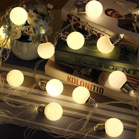 20 LED Retro Bulb Balls String Lights Wedding Party Home