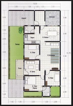 ukuran 6x12 desain rumah luas tanah 72 m2 2 lantai - rumah