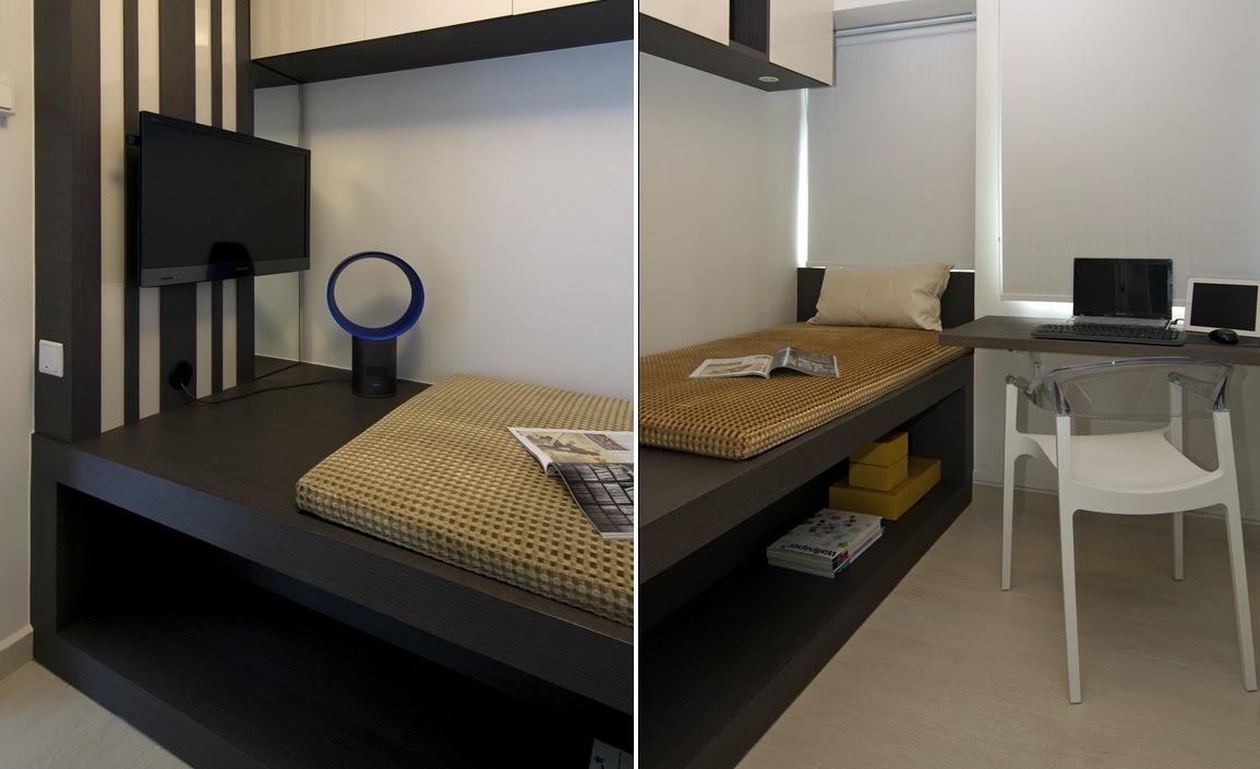 Brown Cream Striped Bedroominterior Design Ideas